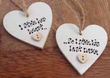 Shabby personalised Gift Tag Set Of 2 Chic Bride Groom Wedding / Anniversary..